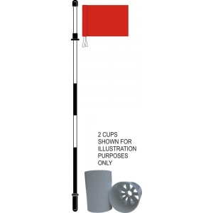 Full Size Flag Pin, Flag, Hole Cup & Cover Set
