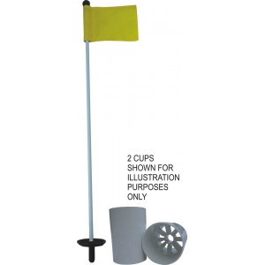 Fibreglass Putting Green Pin with Flag & Hole Cup