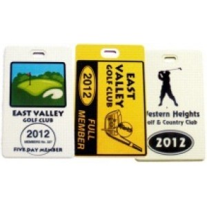 Golf Bag Tag - Style E - Credit Card Style - Printed one side - Pack of 50 and more