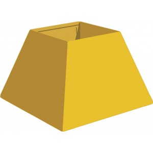 """Metal Tee Box  - Std. 12"""" X 8"""" X 7"""" Plain"""