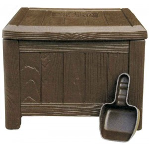 Plastic Divot Box - Brown - Complete With Scoop