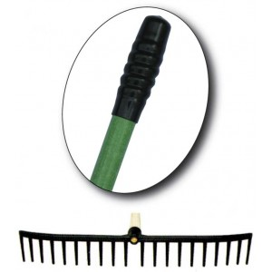 "Plastic Rake Head With 60"" Fibreglass Handle"