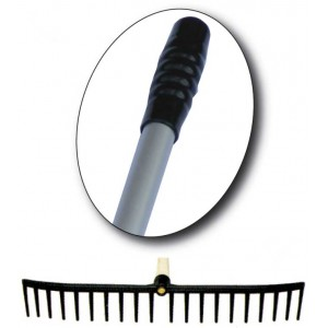 "Plastic Rake Head With 60"" Aluminium Handle"