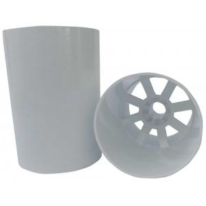 Aluminium White Hole Cup Locking Style- U.K. Size Ferrules