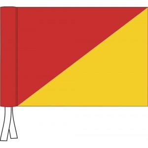 Tie Flag - 2 Colour - Plain