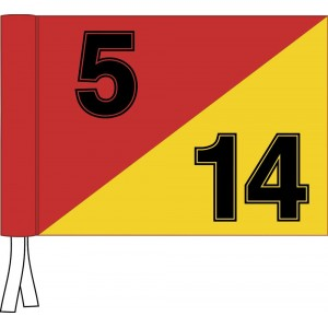 Tie Flag - 2 Colour - Numbered