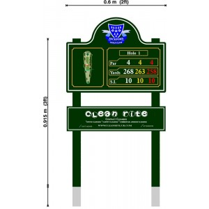 Large Tee Information Sign With Sponsor Plate