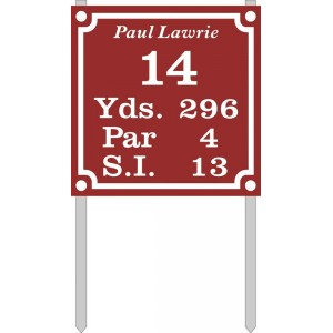 """9"""" X 9"""" Tee  Plate (Standard) With Stakes"""