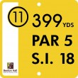 "9"" X 9"" Tee  Plate (Cust/Logo) No Stakes"