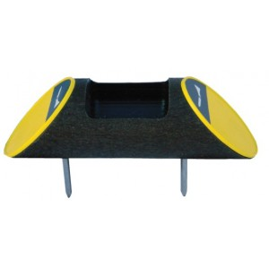 Recycled Plastic Log Shape Broken Tee Caddy - Plain ends