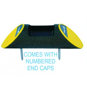Recycled Plastic Log Shape Broken Tee Caddy - Numbered ends