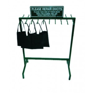 Divot Bag Stand with Sign