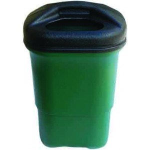 Plastic Litter Bin with post bracket