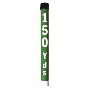 "Plastic Yardage Post 2"" Dia. X 36"" Long With Spike"