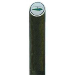 Recycled Brown Plastic Yardage Post - Logoed