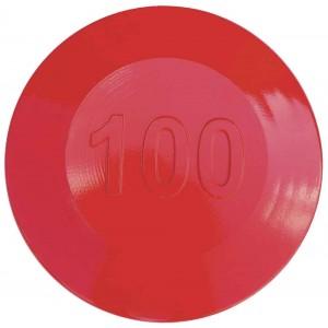 Aluminium Fairway Yardage Marker - Red - 100 Yards