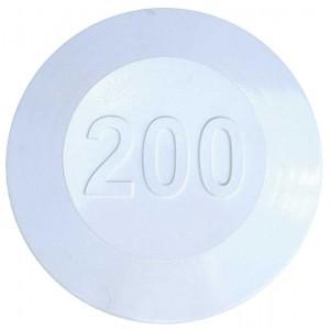 Aluminium Fairway Yardage Marker - White - 200 Yards