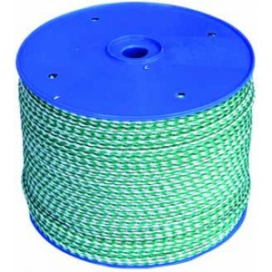 6mm. Dia. Green & White Fleck Rope (200 Mtr. On Reel)