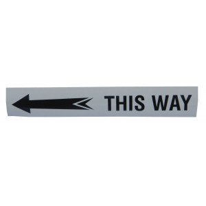 T-Strip - 25cm White Length With Lettering (Min Order 30 Lengths)