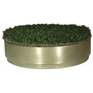 Std Size Aluminium Hole Cup Cover C/W Artificial Grass