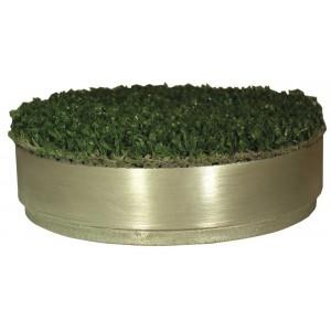 Std Size Aluminium Hole Cup Cover C/W Artificial Grass