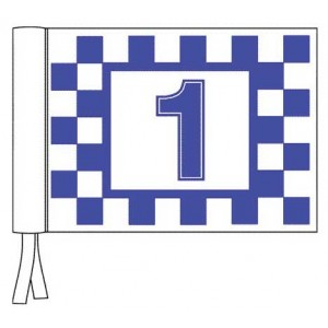 Velcro Flag - Printed Chequers & Numbers