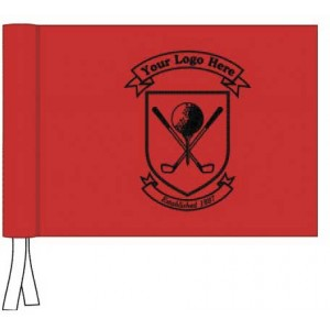 Tie Flag - Black Only Logo