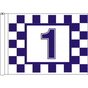 Tubed Flag - Printed Chequers & Numbers