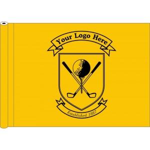 Tubed Flag - Black Only Logo