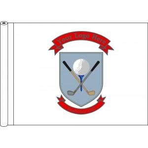 Tubed Flag - White Flag Colour Logo