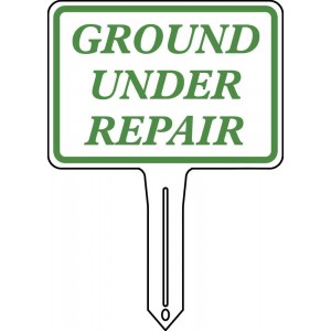 """7"""" X 5"""" Standard Sign With Incorporated Stake"""