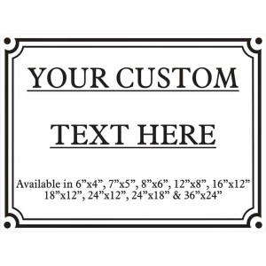 """8"""" X 6"""" Customised Sign (Inc. Stake)"""