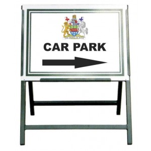 Folding Frame For Removable Signs