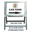 """24"""" X 18"""" Aluminium Sign, With One Colour Text For Folding Sign Frame"""