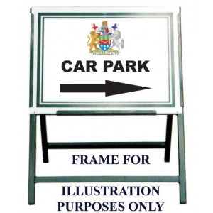 "24"" X 18"" Aluminium Sign, With One Colour Text For Folding Sign Frame"