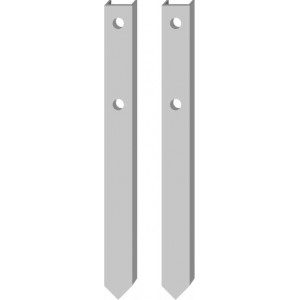"Fabricated Channel Stake - 39"" for 16X12 18X12 24X12 Sign (pair)"