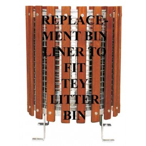 Tey Litter Basket Replacement Galvanised  Mesh Bin Liner