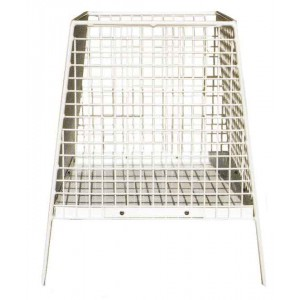 Mesh Litter Basket - Square Pyramid Shape With Solid Bottom (Prev. Style No. 12)