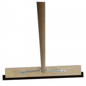 Rubber Squeegee With Wooden Handle