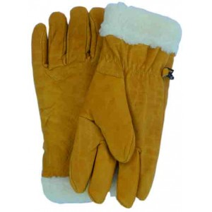 Fur Lined Leather  Glove