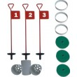 Home Golf Practice Set - 3 Metal Putting Pins & Cups & standard hole cup covers & stabiliser rings